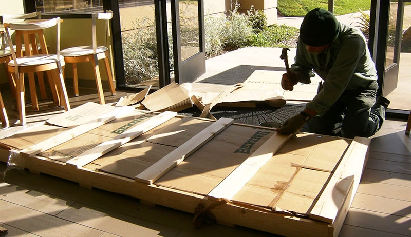 Crating services for fragile items for your office move
