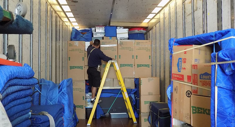 Employee Relocation moving truck packing