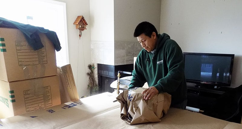 Household packing service for move by A and P Moving of Novato CA