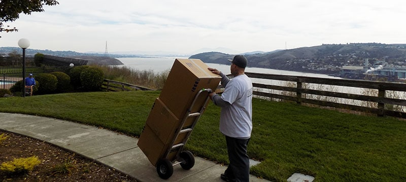 A and P Moving doing a local move in Marin County