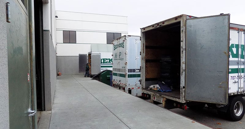 Loading Docks at A and P Moving in Novato CA